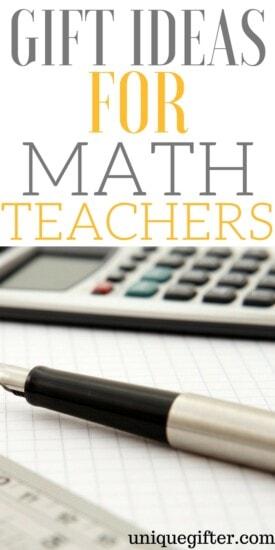 Gift Ideas for Math Teachers | Math teacher gifts | End of Year Presents | Christmas presents for math teachers | Mathematician gifts | Unique gifts for a mathematics professor