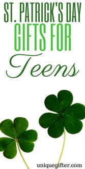 Fun St. Patrick's Day Gifts for Teens | Luck o' the Irish Gifts | Unique Irish gift ideas | Kiss me I'm Irish | Pot of gold | Gifts for a teenage girl | Presents for a male teenager | Female gifts | St. Patrick's Day fashion | Green Accessories | Chocolate gifts