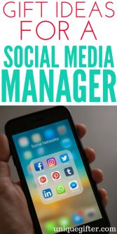 Gift Ideas for a social media manager | Fun gifts for millennials | What to buy the social media department at work | Thank you gifts for social campaigns | Internet savvy gift ideas | Birthday presents for media managers | Gifts for virtual assistants | Online entrepreneur gifts | Unique gifts for solopreneurs