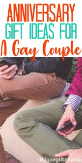 Anniversary Gift Ideas for a Gay Couple | Same-sex marriage anniversary gifts | Creative ways to celebrate a gay couple's wedding anniversary | LGBTQ gifts | LGBTQ2A | LGBT presents | relationship celebration | queer friendly gifts