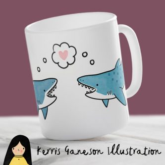 This gift ideas for shark lovers is a funny one.