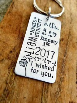 First mother's day gift ideas include this cute key chain.