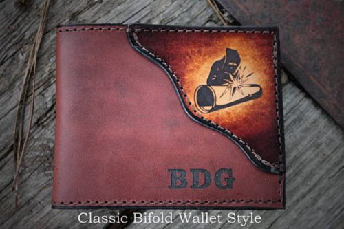 Personalized wallet - gift ideas for welders