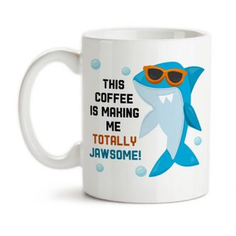Gift ideas for shark lovers include this fun mug!