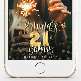 Birthday Gifts For 21 Year Old Women Custom Snapchat Geofilter