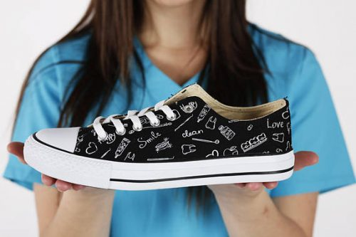 Gifts for dental hygienists include ones that will keep her feet comfy.