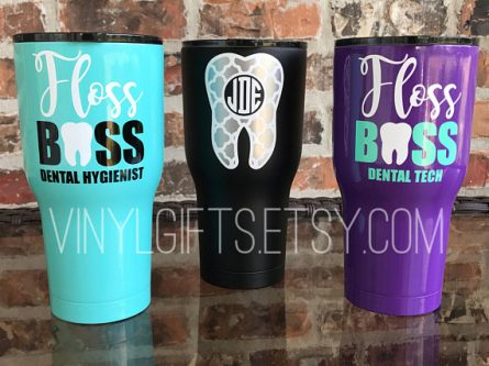 This gifts for dental hygienists will keep her coffee warm.