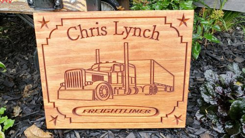 This father's day gifts for truck drivers would look good in any man cave.