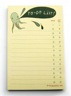 Gift ideas for octopus lovers include this cute notepad.
