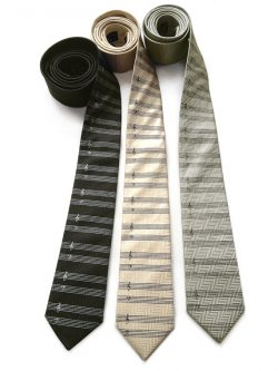 Gifts for a pianist include these cute neck ties.
