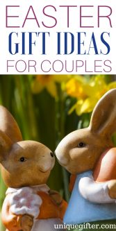 Appropriate Easter Gifts for Couples | Fun things to get my Mom and Dad for Easter | Easter Egg Hunt items for grandparents | What to put in an Easter basket for my parents | fun Easter presents for adults | Easter gift ideas for friends | Easter gifts for a couple |
