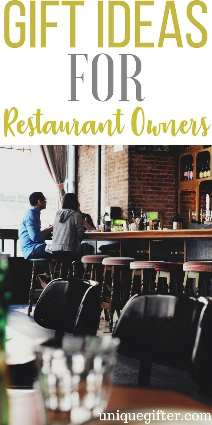 Gift Ideas for Restaurant Owners | Chef/Owner Gifts | Presents for a Restaurateur | Hospitality Industry Gifts | Restaurant Manager Birthday Presents | Thank you gifts | Front of House | Back of House | Server | Manager