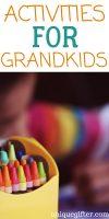 Activities for Grandchildren | What to buy for activities for grandchildren | Activities for Grandchildren to keep them busy | Fun activities for grankkids | What to buy for grandchildren | Unique gifts for grandkids | #gifts #present #grandchildren