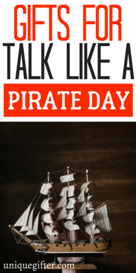 Gifts for Talk Like a Pirate Day | #talklikeapirate | Pirate Party theme gifts | Favors for a pirate party | International Talk Like a Pirate Day Inspiration | How to celebrate talk like a pirate day | Fun gifts for pirate days
