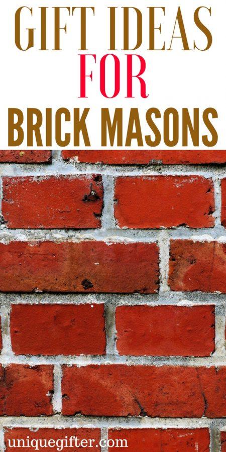 20 Gifts for Brick Masons
