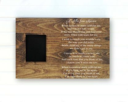 Father's Day Gifts for a Dad Who Lost a Child. Letter from Heaven Wood Sign