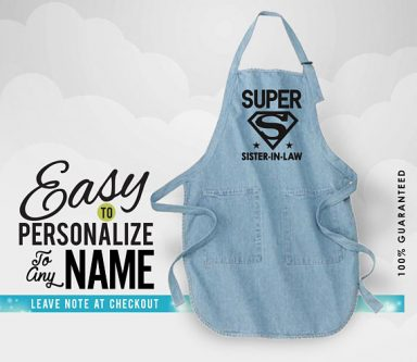 This apron is a fun mother's day gifts for sister-in-laws for her kitchen!