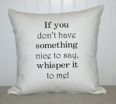 Mother's day gifts for sister-in-laws include this fun pillow.