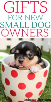 Gifts for new small dog owners   What to get a friend who just got a puppy   Small dog love   Creative gifts for a new dog parent   Pet parent gifts   Fun things to buy a friend who is fostering a dog   Foster pet gift ideas   #dog #petparent #newpuppy