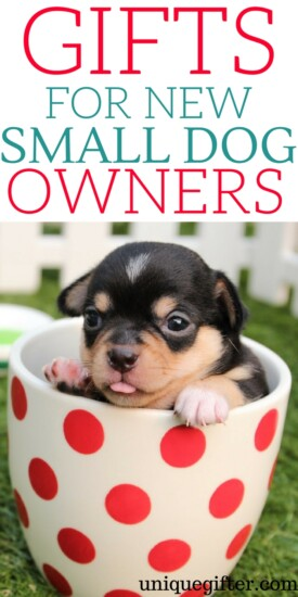 Gifts for new small dog owners | What to get a friend who just got a puppy | Small dog love | Creative gifts for a new dog parent | Pet parent gifts | Fun things to buy a friend who is fostering a dog | Foster pet gift ideas | #dog #petparent #newpuppy