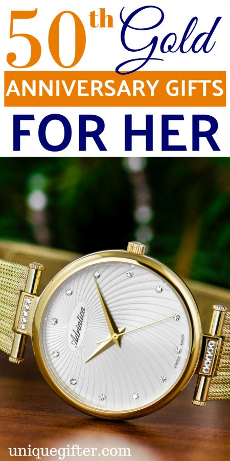 50th Gold Anniversary Gifts for Her