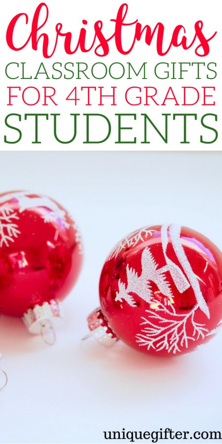 Christmas Classroom Gifts for 4th Grade Students