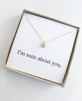 This 6 Month Anniversary Gift Ideas lets them know you're nuts about them.