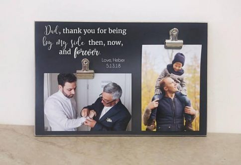 This Father of the Groom Gifts would be a cute one for his night stand.