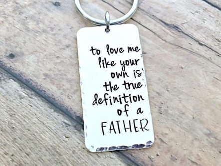 He'll think of you every time he reaches for his keys with this Father of the Groom Gifts.