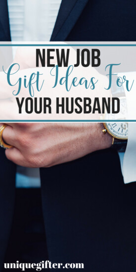 New Job Gift Ideas for Your Husband | What to buy your husband for a new job | Congratulation gifts for a new job | What to buy him for a new job gift | Clever New Job Gifts for Him | Tell him your happy with a new job gift | Gift ideas for a new job for him | #newjob #giftidea #congratulations