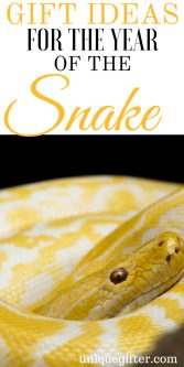 Gift Ideas for the Year of the Snake