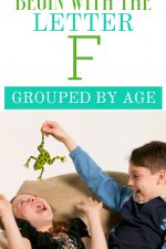 Toys that Begin with the Letter F Grouped By Age