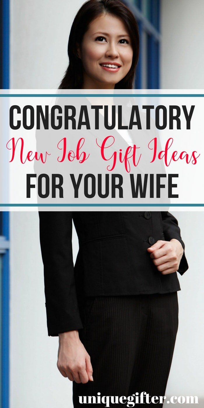 New Job Gift Ideas for Your Wife | What to buy your wife for a new job | Congratulation gifts for a new job | What to buy her for a new job gift | Clever New Job Gifts for Her | Tell her your happy with a new job gift | Gift ideas for a new job for her | #newjob #giftidea #congratulations