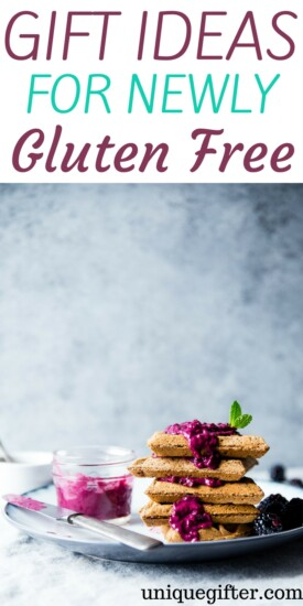 Gifts for Newly Gluten Free | What to buy someone who is new to gluten free | Gluten Free Dieter gifts | Presents for someone who is gluten free | Clever gifts to buy for someone who is gluten free | Gifts to buy that are gluten free inspired | #glutenfree #gifts #whattobuy