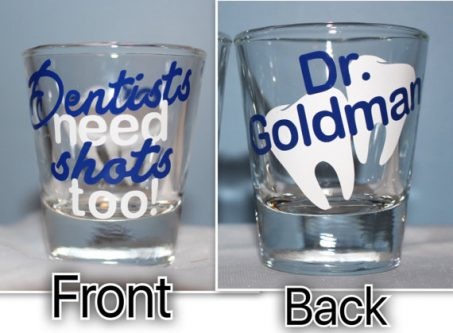 Gift Ideas for Dentists include anything alcohol related.