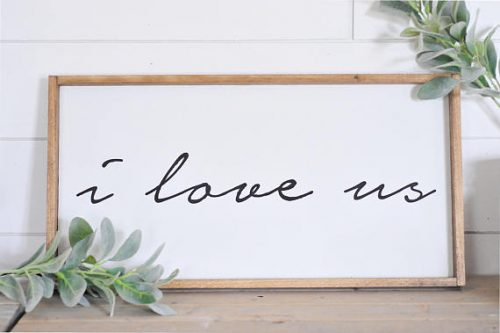 This 4 Year Dating Anniversary Gift Ideas will remind you that love rules this home.