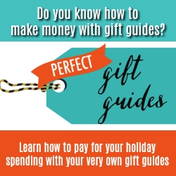 Do you know how to make money with gift guides? Learn how to apy for your holiday spending with your very own gift guides. Course Logo