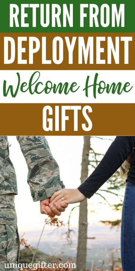 Return from Deployment Welcome Home Gifts | What to buy for someone returning from deployment |