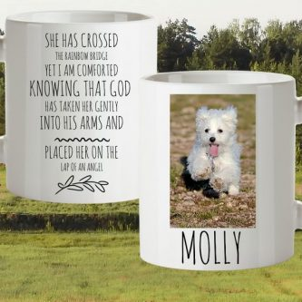 Sympathy Gift Ideas for Loss of Dog include this mug that can make them smile.