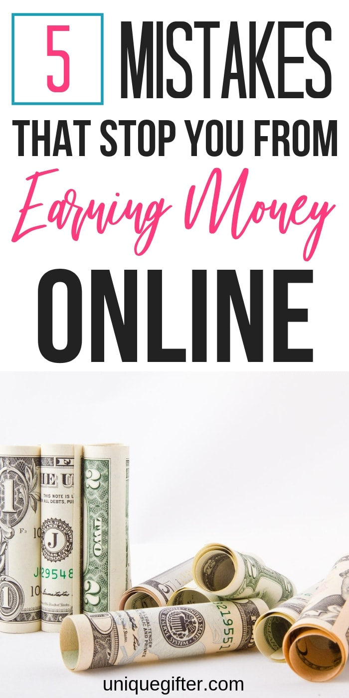 Are you making these 5 mistakes that stop you from earning money online? Find out now and fix them fast, so you can increase your passive income from your blog.