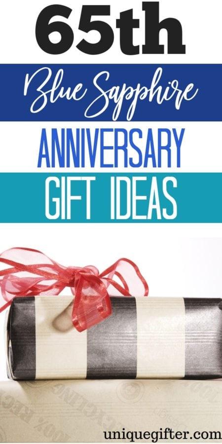 65th Blue Sapphire Anniversary Gift Ideas