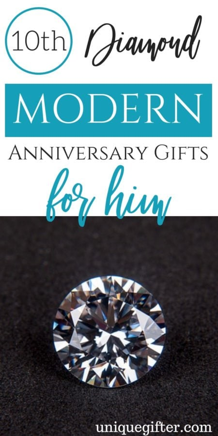 10th Diamond Modern Anniversary Gifts for Him
