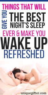 Things That Will Give You the Best Night's Sleep Ever & Make You Wake Up Refreshed | Gifts for the best nights sleep | sleep gift ideas | How to wake up refreshed | Gifts for a good nights sleep | Gifts to wake up feeling refreshed | Gifts for someone who likes to sleep #sleep #goodnight #gift #presents