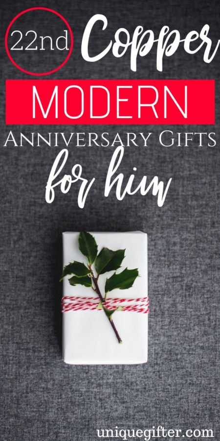 20 22nd Copper Modern Anniversary Gifts for Him