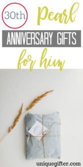 30th Pearl Anniversary Gifts for Him