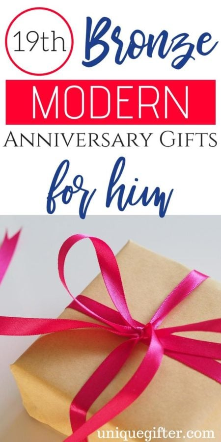 19th Bronze Modern Anniversary Gifts for Him