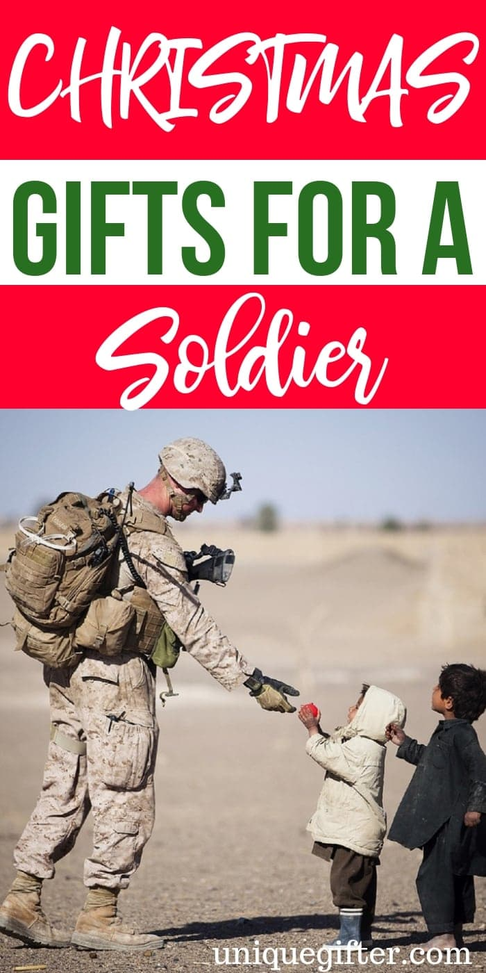 Christmas Gifts For A Soldier | Christmas Gifts For Military | Christmas Gift Ideas | Soldier Gifts | Soldier Presents | Unique Soldier Presents | #gifts #giftguide #presents #soldier #christmas #uniquegifter