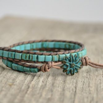 turquoise charm bracelet for my girlfriend