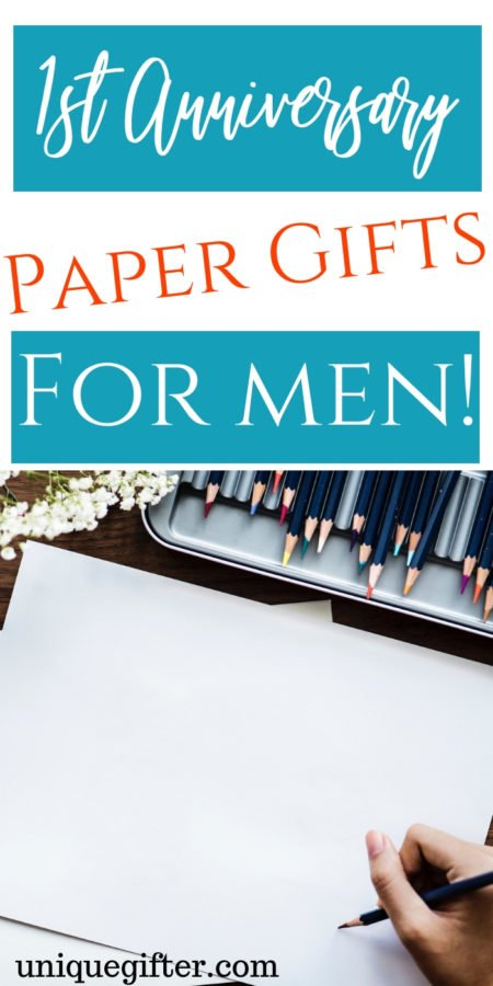 1st Anniversary Paper Gifts for Men