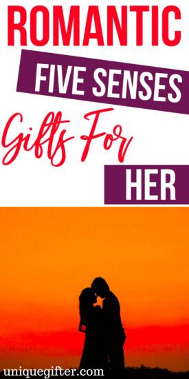 Romantic Five Senses Gifts for Her   Romance Gifts   Romantic Presents   Gifts For Her   Romance   Creative Romantic Gifts   #gifts #giftguide #presents #romantic #romance #uniquegifter